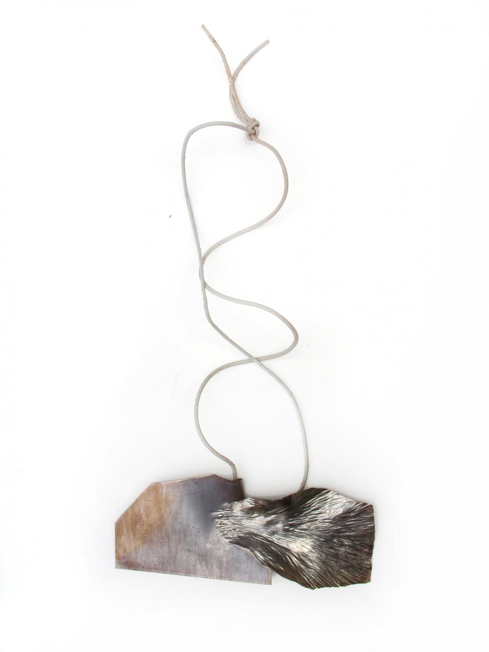 Neckpiece, silver, 15 cm x 7 cm, Klara Brynge