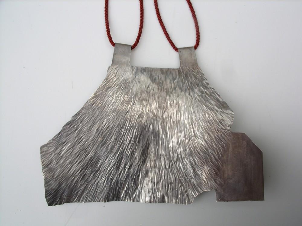 Neckpiece, silver, 20 cm x 15 cm, Klara Brynge
