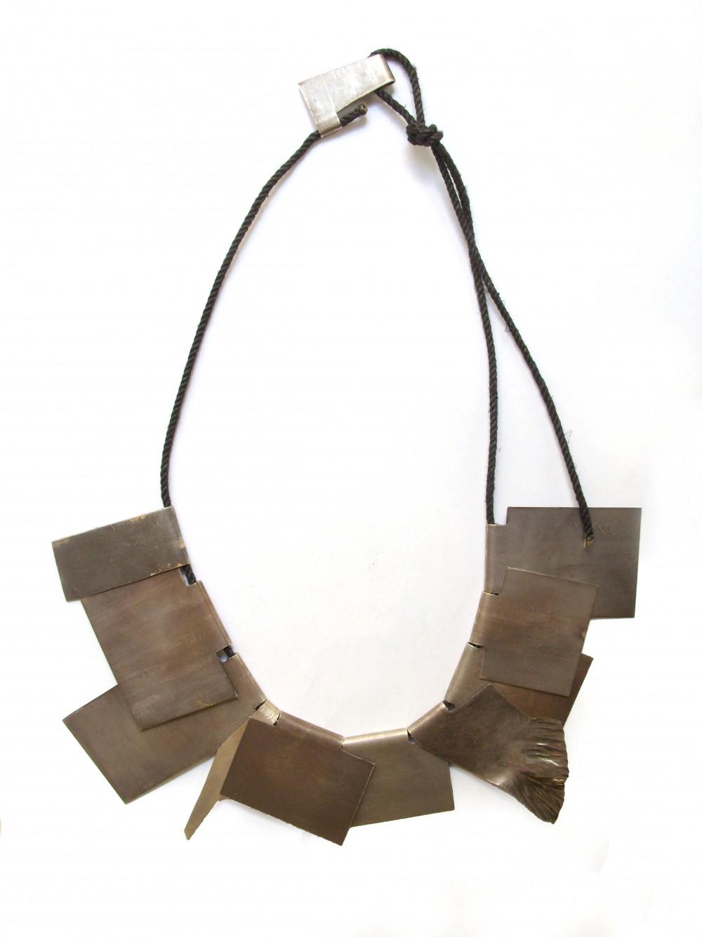 Neckpiece, silver, 20 cm x 20 cm, Klara Brynge