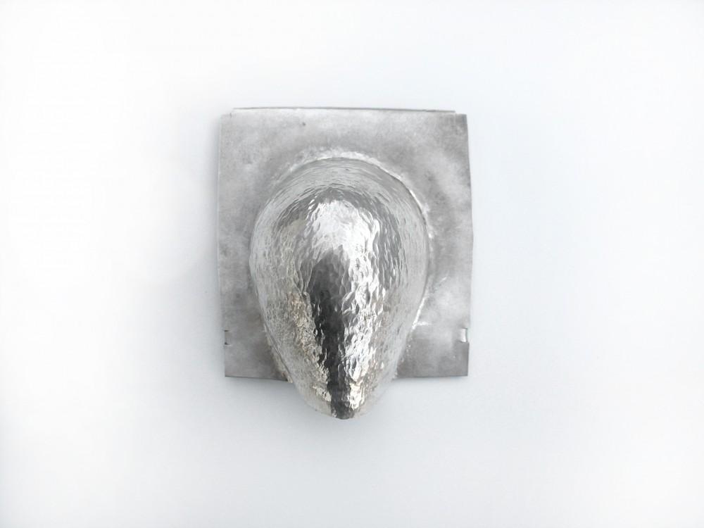 Brooch, silver, 10 cm x 11 cm, Klara Brynge