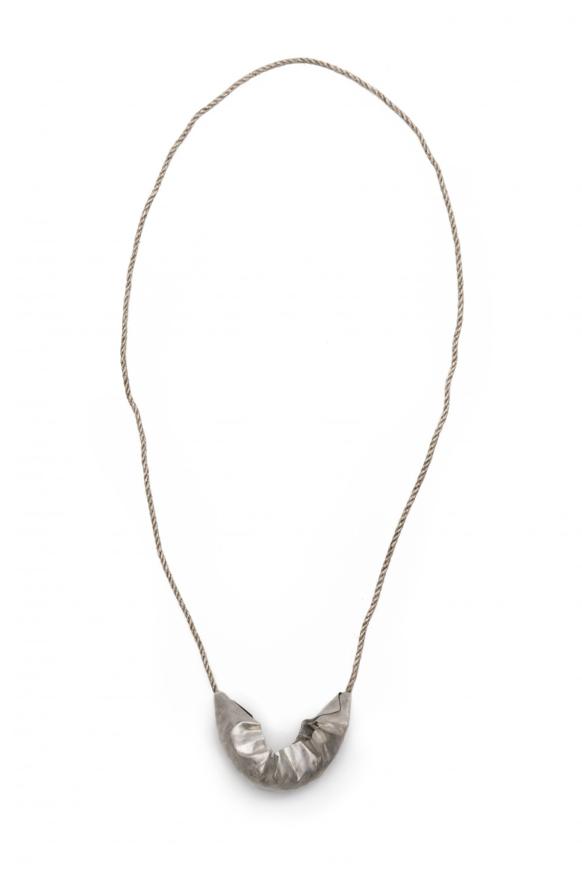 Neckpiece, silver, 10 cm x 23 cm, Klara Brynge