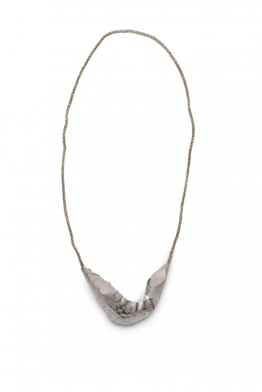 Neckpiece, silver, 11 cm x 22 cm, Klara Brynge