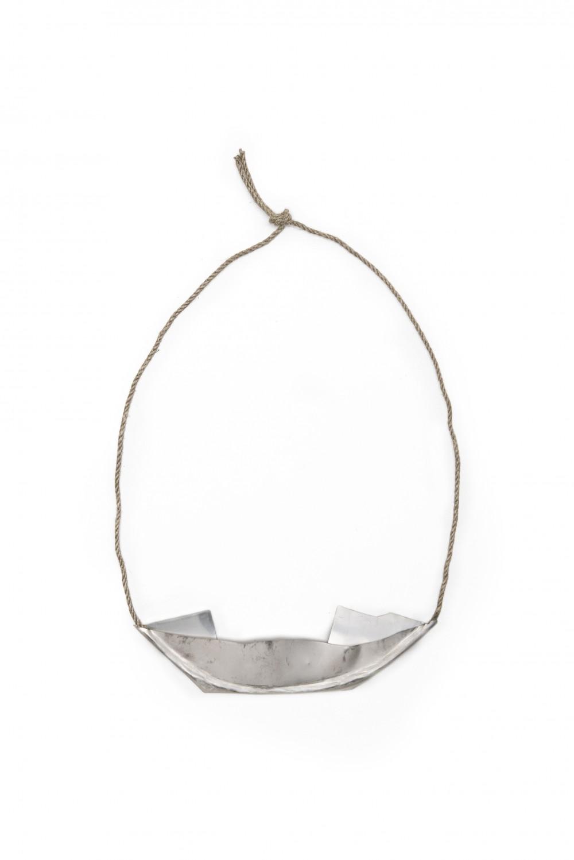 Neckpiece, silver, 18 cm x 20 cm, Klara Brynge